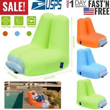 Inflatable Lounger Air Sofa Bed Chair Couch w Portable Organizing Bag Waterproof