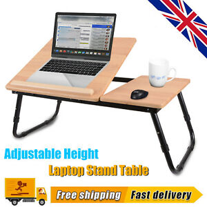 Folding Laptop Table Bed Adjustable Legs Sofa Tray Notebook Stand Computer Desk