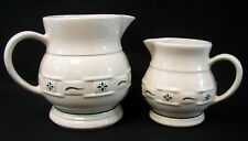 Longaberger 64 oz & 32 oz Pitchers Woven Traditions Heritage Green Set of 2