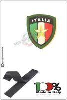 Patch Toppa Scudetto con Velcro Ricamato ITALIA + LOGO Stella Esercito Italiano