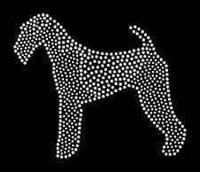 Airedale Terrier rhinestone bling transfer