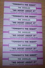 "5 Shirelles Tonight's The Night Jukebox Title Strip 7"" 45Rpm Records"