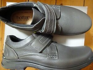 HOTTER MENS SHOES ASH GREY LEATHER UPPER UK12 EU47 NEW BOXED
