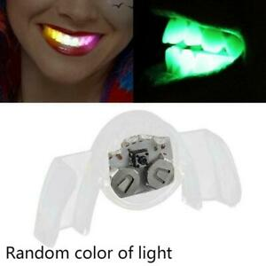 Flashing LED Mouth Piece Glow Teeth Light up For Halloween Even Rave T1Y5 Fast