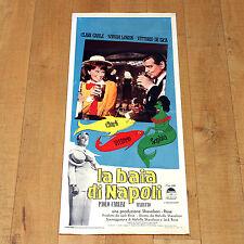 LA BAIA DI NAPOLI locandina poster Clark Gable Sophia Loren Vittorio De Sica D48