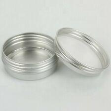 6 Aluminum Jar Containers Screw top 200ml