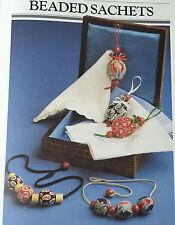 SEWING PATTERN Jean Greenhowe Beaded Drawstring Sachet Bag Home Ladies RARE