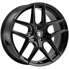"4-Touren TR79 17x8 5x4.5"" +35mm Gloss Black Wheels Rims 17"" Inch"