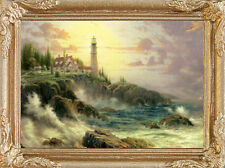 LIGHTHOUSE SCENE Dollhouse Picture - FRAMED Art Miniature - MADE IN AMERICA