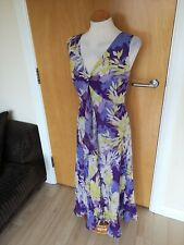 Ladies CC COUNTRY CASUALS Dress Size 18 PETITE Lilac Midi Party Evening Wedding