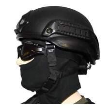 Us paracaidista me 2002 Rail w/rail negro ABS casco one size negro, nuevo!