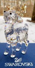 Swarovski Crystal Santa's Reindeer Figurine (#5223261) New in Box