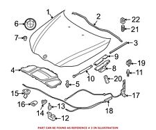 For BMW Genuine Hood Seal Front Outer 51767034165