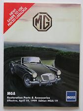 MOSS Motors 1999 MGA Parts catalog - English - ST2003000618