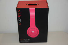 Beats by Dr. Dre Solo HD Headband Headphones Earphones Drenched In Matte Pink VG