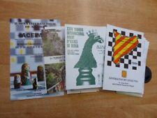 Konvolut ( 500 Gramm) Schachturnier-Programme aus Spanien ca. 1989-1996