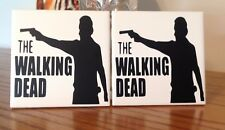 The Walking Dead with Rick  ceramic tile coaster (set of 2)