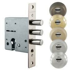 Mortise Deadbolt Euro Profile Cylinder Lock 3 Bolts Wooden/Metal Door, Safe