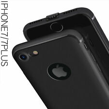 """For """"Apple iPhone 6/6S"""" Candy Slim Soft Silicone Matte Back Case Cover - Black"""