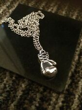 Boxing Glove Silver Pendant Necklace Snake Chain 44 cm+5.5cm Unisex Men Girl New