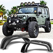 NEW FIT 07-17 JEEP WRANGLER JK UNLIMITED FLAT TEXTURED STYLE FENDER FLARES STEEL