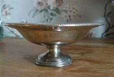 Vintage James Dixon & Son Sheffield Silver Plate EPNS Bowl Dish footed pedestal