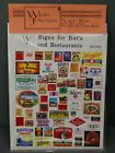 Wales Junction HO Scale Signs for Bars and Restaurants WJ-0002