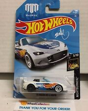 '15 Mazda MX-5 Miata #40 * WHITE * 2018 Hot Wheels Case B * NE19