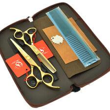 "5.5"" 6"" Professional Hair Cutting Thinning Scissors Set Japan 440c Barber Shears"