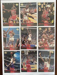1993-94 Upper Deck MICHAEL JORDAN Mr June. Full Set of 10 cards 🔥