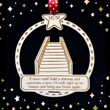 Rememberance Christmas Tree Bauble Personalised Memorial Gift Decoration Xmas