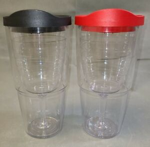 Two, TERVIS Wine Glass inside Tumblers 16 oz. No Sweat Insulated ~ Pre-owned