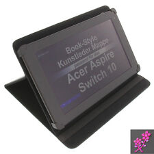 Funda pedrería Flor para Acer Aspire Switch 10 estilo libro Protección NEGRA