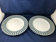 Set of 2 Dinner Plates Summer Waves 4096 by Noritake Microwave & Washer Safe