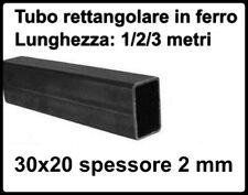tubolare rettangolo in ferro liscio profilo rettangolo 30x20 spessore 2 mm