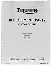 Triumph Parts Manual Book 1967 Tiger Cub Models, Bantam Cub & Super Cub