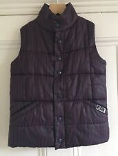 Kids' Genuine PUFFA Blue Red Striped Gilet Bodywarmer Vest 9-10 Years L Large