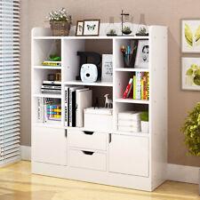 White 8 Cube 2 Door Cabinet Drawer Bookshelf Bookcase Storage Shelf Display Unit