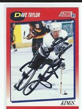 Dave Taylor Signed 1991/92 Score Canadian Card #214