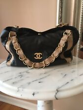 Chanel Blk lamb Satchel Shoulder Bag Gold Hardwear 100% Authentic