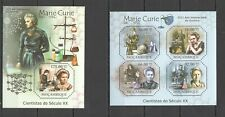 BC1109 2011 MOZAMBIQUE SCIENCE SCIENTISTS XX CENTURY MARIE CURIE BL+KB MNH