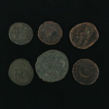 Ancient Coins Roman Artifacts Figural Mixed Lot of 6 B6241
