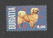Dog Art Body Study Portrait Postage Stamp Tibetan Spaniel Buriatia 1999 Mnh