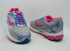 Saucony Girl's ProGrid Ride 6 Running Shoes Gray/Silver/Pink/Blue Size 6