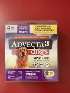 Advecta 3 for Large Dogs 21-55 Lbs. 4 Month Supply Same as K9 Advantix II
