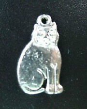 20pcs Tibetan Silver Cute Sitting Cat Charms R110