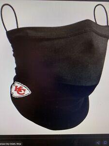 Kansas City Chiefs NFL New Era Adult Official On-Field Neck Gaiter, Black, NIB