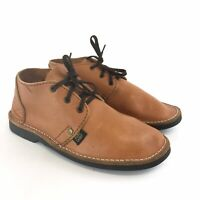 Vintage Handmade Size UK6 Mens Brown Leather Kudu Lace Up Chukka Casual Shoes