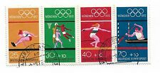 GERMANY  1972 MUNICH OLYMPIC GAMES USED SET OF FOUR  REF 321