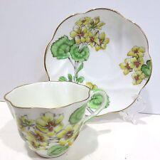 Salisbury Bone China Teacup & Saucer Pattern #1758 GERANIUM From England